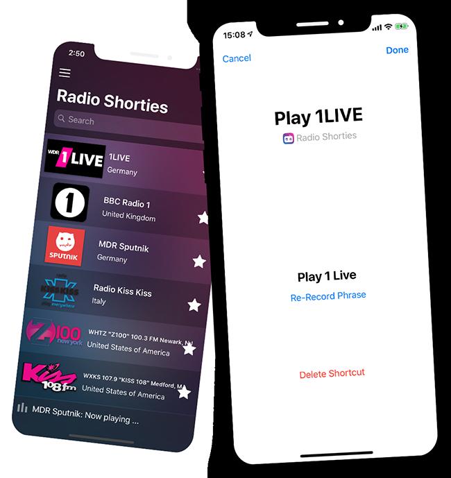 HomePod siri shortcut Radio